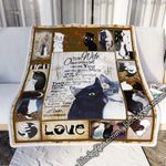 To My Wife White & Black Cats In Love Sofa Throw Blanket
