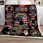 Retired Women Veterans Sofa Throw Blanket
