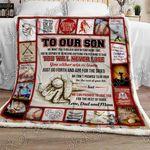 Baseball Son, Love, Dad And Mom Sofa Throw Blanket P476dm