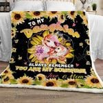 Daughter You Are My Sunshine Sofa Throw Blanket