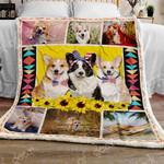 Cute Corgis Love America Sofa Throw Blanket N72