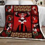 Lady Red Skull Sofa Throw Blanket TH732