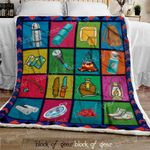 Camping For Life Sofa Throw Blanket D403