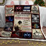 My Wrestling Grandson, Love, Grandma Sofa Throw Blanket