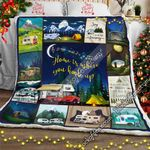 Home Is Where You Hook Up, RV Camping Sofa Throw Blanket NH266