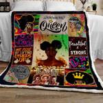 Black Queens Strong & Beautiful Sofa Throw Blanket TT118