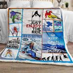 Skiing - Life Is Better On The Slopes Sofa Throw Blanket NP245