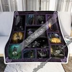 Black Cat Magic Sofa Throw Blanket