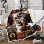 Strong Melanin Queen, Black Woman Queen Sofa Throw Blanket