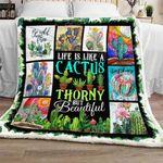 Life Is Like A Cactus Sofa Throw Blanket