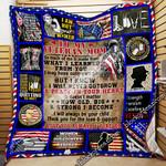 To My Veteran Mom Quilt Blanket