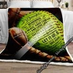 Be Brave, Have Courage & Love Life - Dad To Daughter Softball Sofa Throw Blanket SHB026