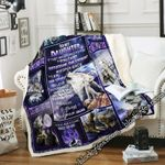 To My Daughter, Love Mom, Wolf  Sofa Throw Blanket