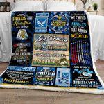 Proud Air Force Mom Sofa Throw Blanket