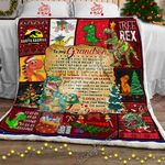 My T-rex Grandson, Love, Grandpa Sofa Throw Blanket