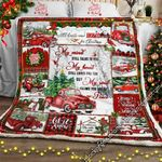 My Soul Knows You Are At Peace, Red Truck   Sofa Throw Blanket