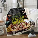 I Love Pizza Sofa Throw Blanket SS004