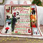 To My Girlfriend - Love Of My Life Christmas Sofa Throw Blanket