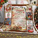 To My Daughter, Mom , Christmas Deer Sofa Throw Blanket