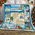 To My Granddaughter, Beach Sofa Throw Blanket