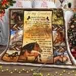 Grandma To Grandson, Horse  Sofa Throw Blanket