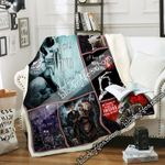 My Favorite Place Is Inside Your Heart, Skeleton Couple Sofa Throw Blanket NP383