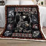Till Death Do Us Part - Skull Sofa Throw Blanket