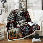 I Am A Grumpy Old Veteran Sofa Throw Blanket P237