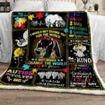 Grandma Bear Autism Sofa Throw Blanket
