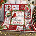 To My Bestie, Cardinal  Sofa Throw Blanket