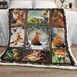 Fox In The Forest Sofa Throw Blanket