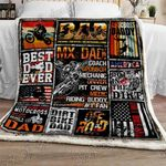 Motocross Dad Sofa Throw Blanket
