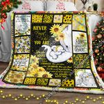 I Will Always Be With You, Baby Elephant Sunflower Sofa Throw Blanket