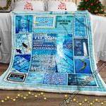 Swimming Life Sofa Throw Blanket