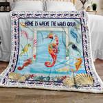 Ocean Seahorse Sofa Throw Blanket TTL95