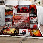 In Flanders Fields Remembrance Poppy Sofa Throw Blanket