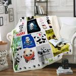 Keep calm and love Pandas Sofa Throw Blanket P398