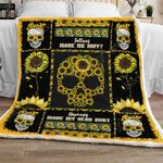 Sunflower Skull Sofa Throw Blanket Th701