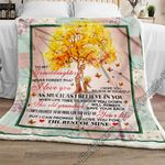 Never Forget That I Love You, Grandma To Granddaughter Sofa Throw Blanket NP350