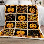 Pumpkin Emoticon Sofa Throw Blanket NP255