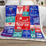 Proud Registered Nurse Sofa Throw Blanket NH104