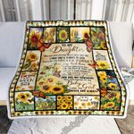 To My Daughter, Love Mom. Sunflower Butterfly Sofa Throw Blanket