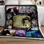 I Love You To The Moon And Back Sofa Throw Blanket SS226