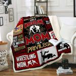 Wrestling Mom Sofa Throw Blanket P441