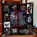 I Choose You Skull Love Quilt Blanket