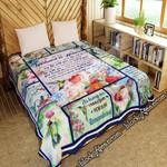 To My Husband In Heaven, Hummingbird   Quilt Blanket