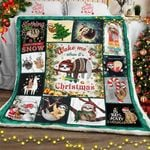 Wake Up When It�s Christmas, Sloth  Sofa Throw Blanket