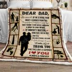Always Be your Little Girl, Daddy Sofa Throw Blanket