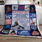 To My Grandson, Ice Hockey Sofa Throw Blanket THL960