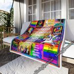 Let Your True Colors Shine, LGBT   Sofa Throw Blanket